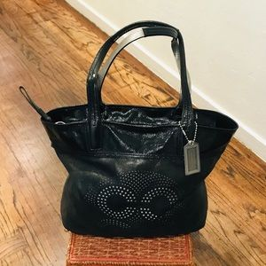 COACH Audrey Leigh Leather Tote - 17041